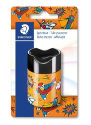 Staedtler Comic Tub Single Hole Sharpener, Yellow/Black