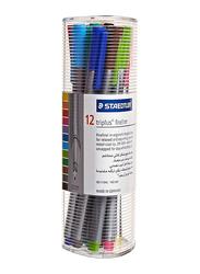 Staedtler Triples Fineliner Pens, width 0.3mm, 12-Pieces, Multicolor