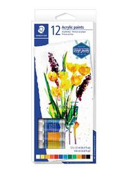 Staedtler Karat Acrylic Paint Colors Set, 12 Piece, Multicolor