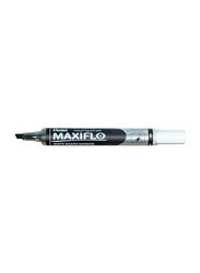 Pentel Maxiflo White Board Marker with Slim Chisel, Black