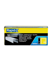 Rapid Galvanized Staples, 13/6mm, 5000 Pieces, Silver
