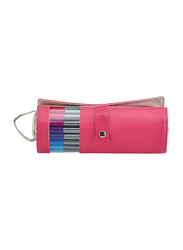 Staedtler Triples Fineliner 334PC20-20 Pens with Pink Roll Case, Width 0.3mm, 20-Pieces, Multicolor