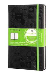 Moleskine Evernote Squared Smart Hard Notebook, 70gm, Large, Black