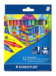 Staedtler Fasermaler Fiber-Tip Pens, 12-Pieces, Assorted Colors