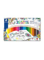Staedtler Ergosoft ST-157-M36JB-2 Triangular Color Pencils Set, 36 Pieces, Assorted Colors