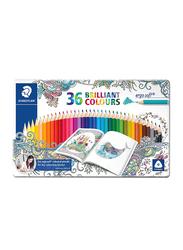Staedtler Ergo Soft ST-157-M36JB Color Pencils Set, In Metal Box, 36 Pieces, Multicolor
