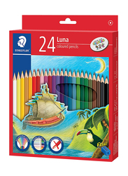 Staedtler Luna ST-136-C24 Color Pencils Set, with Free Pencil Sharpener, 24 Pieces, Multicolor