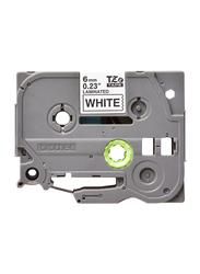 Brother TZE-211 6mm Tape Cassette, Black on White