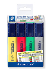 Staedtler Textsurfer Classic Excellent Highlighters, 4-Pieces, Multicolor