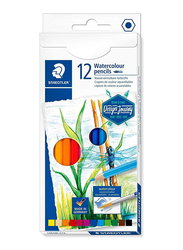 Staedtler Journey ST-14610C-C12 Watercolor Pencils Set, 12 Pieces, Assorted Colors