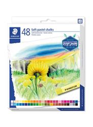 Staedtler 2430C48 Soft Pastel Chalks, 48-Pieces, Multicolor