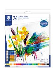 Staedtler Karat Acrylic Paint Tube, 24 Pieces x 12ml, 8500 C24, Multicolor