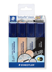 Staedtler Textsurfer Classic Vintage 364 CWP4 Highlighters, 4-Pieces, Multicolor