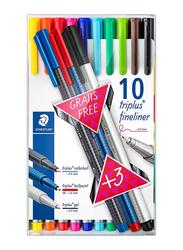 Staedtler 13-Piece Triplus Pen Set, Multicolor