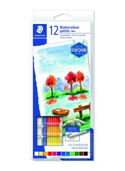 Staedtler Karat R 8880 C12 Watercolor Paint Tubes, 12 Pieces, Multicolor
