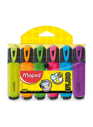 Maped 6-Piece Fluo Peps Classic Highlighters Set, 742557, Multicolor