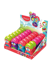 Maped 24-Piece Loopy Totem Eraser and Pencil Sharpener, Multicolor