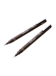 Uniball Uni Pin Fineliner Pen, 0.5mm, Sepia