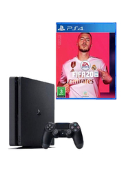 Sony PlayStation 4 Slim Console, 1TB, with 1 Controller and 1 Game (FIFA 20), Black
