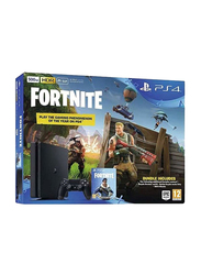 Sony PlayStation 4 Slim Console, 500GB, with 1 Controller and 1 Game (Fortnite), Black