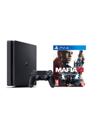 Sony PlayStation 4 Slim Console, 1TB, with 1 Controller and 1 Game (Mafia 3), Black