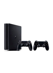 Sony PlayStation 4 Slim Console, 1TB, with 2 DualShock 4 Wireless Controller, Black