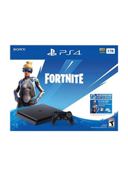 Sony PlayStation 4 Slim Console, 1TB, with 1 Controller and 1 Game (Fortnite), Black