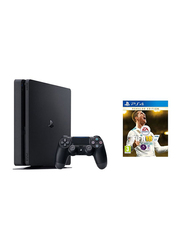 Sony PlayStation 4 Slim Console, 1TB, with 1 Controller and 1 Game (FIFA 18: Ronaldo Edition), Black
