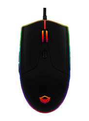 Meetion GM21 Polychrome Wired Optical Gaming Mouse, Black