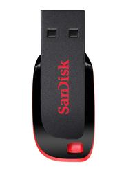 SanDisk 64GB Cruzer Blade USB 2.0 Flash Drive, Black/Red