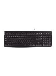 Logitech K120 Wired English Keyboard, Black