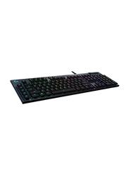 Logitech Tactile G815 Wired Gaming English Keyboard, Black