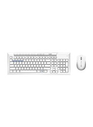 Rapoo 8200M Multimode Wireless Arabic Keyboard and Mouse, White
