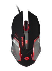 Meetion M915 Entry Level PC Backlit Wired Optical Gaming Mouse, Black