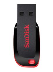 SanDisk 128GB Cruzer Blade USB 2.0 Flash Drive, Black/Red