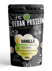 Natures Finest Organic Vegan 70% Raw Protein Shake Powder, 450g, Vanilla