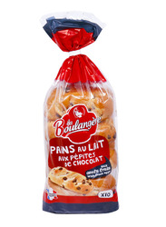 La Boulangere 10 Milk Breads with Chocolate Chips, 350g