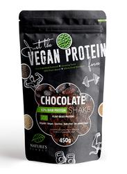 Natures Finest Organic Vegan 63% Protein Shake Powder, 450g, Chocolate