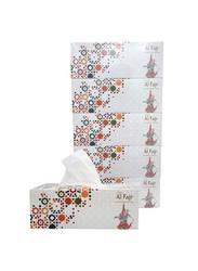 SNH Al Fajr Premium Ultra Soft Facial Tissue, 5 Boxes x 200 Sheets x 2Ply, White