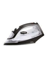 Clikon Steam Iron with Non-Stick Coated Soleplate, 1300W, CK4105-N, White/Black