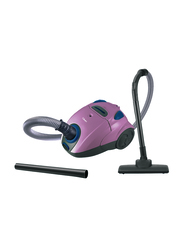 Clikon 1200W Floor Upright Vacuum Cleaner with Dust Full Indicator, CK4022, Pink