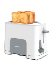 Clikon 2-Slice Bread Toaster, 870W, CK2435, White