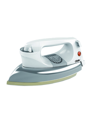 Clikon Heavy Dry Iron with Ceramic Oil Coated Soleplate, 1200W, CK2132, White/Silver