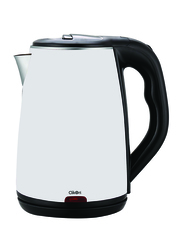 Clikon 1.8L Stainless Steel Kettle, 1500W, CK5127, White