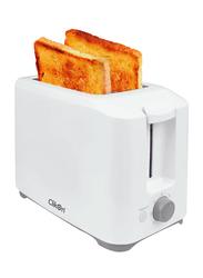 Clikon 2-Slice Bread Toaster, 700W, CK2436, White