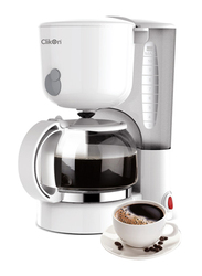 Clikon 1.2L Coffee Machines, 870W, CK5126, White