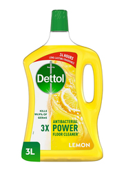 Dettol Lemon Antibacterial Power Floor Cleaner, 3 Ltr