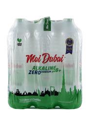 Mai Dubai Alkaline Zero Sodium Water Bottle, 6 Bottles x 1.5 Liter