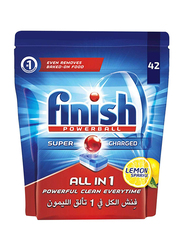 Finish All in 1 Auto Dishwashing Lemon Power Ball Tablets, 42 Tablets