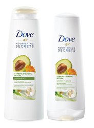 Dove Nourishing Secrets Strengthening Ritual Shampoo and Conditioner Set for All Hair Types, 400 + 320ml, 2 Pieces